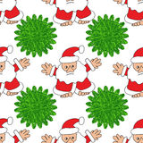 Albero di Natale e del Babbo Natale Fotografie Stock Libere da Diritti