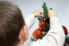 Albero di Natale e del bambino Immagine Stock