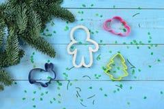 Albero di Natale e di Bakeware Immagine Stock Libera da Diritti