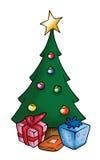 Albero di Natale e presente royalty illustrazione gratis