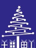 Albero di Natale e presente Fotografia Stock