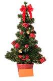 Albero di Natale e scheda in bianco Immagini Stock Libere da Diritti