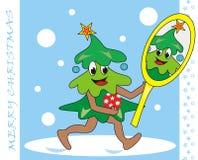 Albero di Natale e specchio Immagini Stock Libere da Diritti