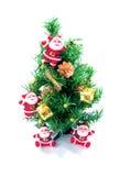 Albero di Natale ed il Babbo Natale Immagine Stock