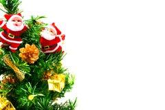 Albero di Natale ed il Babbo Natale Fotografie Stock