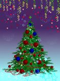 Albero di Natale elegante Fotografia Stock Libera da Diritti