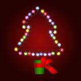 Albero di Natale fatto degli indicatori luminosi in POT Fotografia Stock Libera da Diritti