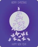 Albero di Natale fatto delle farfalle illustrazione vettoriale