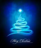 Albero di Natale fatto delle righe astratte della spazzola Fotografia Stock Libera da Diritti