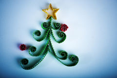 Albero di Natale fatto di carta Fotografia Stock Libera da Diritti