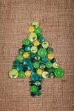 Albero di Natale fatto a mano Fotografie Stock Libere da Diritti