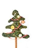 Albero di Natale fatto a mano Fotografia Stock