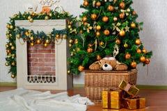 Albero di Natale festivo Fotografie Stock Libere da Diritti