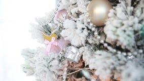 Albero di Natale festivo stock footage