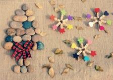 Albero di Natale, fiore di natale Fotografia Stock Libera da Diritti