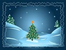 Albero di Natale in foresta Fotografie Stock
