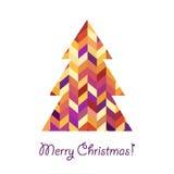 Albero di Natale geometrico Fotografia Stock