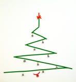 Albero di Natale geometrico del nastro di condotta di stile minimalista Fotografia Stock