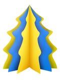 Albero di Natale - giallo-blu illustrazione vettoriale