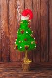Albero di Natale Handmade Fotografia Stock Libera da Diritti