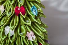Albero di Natale Handmade del tessuto Fotografie Stock Libere da Diritti