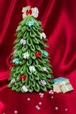 Albero di Natale Handmade del tessuto Immagine Stock Libera da Diritti