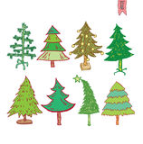 Albero di Natale Illustrazione di vettore Fotografia Stock