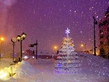 Albero di Natale improvvisato Immagini Stock Libere da Diritti