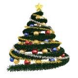 Albero di Natale isolato Immagine Stock