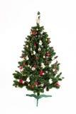 Albero di Natale isolato su priorità bassa bianca Fotografia Stock Libera da Diritti