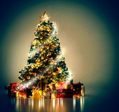 Albero di Natale magico immagini stock