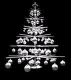 Albero di Natale metallico Fotografie Stock Libere da Diritti