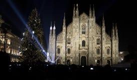 Albero di Natale a Milano fotografia stock