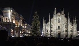 Albero di Natale a Milano fotografia stock libera da diritti
