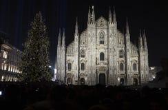Albero di Natale a Milano fotografie stock