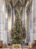 Albero di Natale in Minster di St George Immagini Stock Libere da Diritti