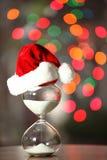 Albero di Natale moderno e della clessidra Immagine Stock