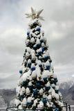 Albero di Natale in montagne Fotografia Stock