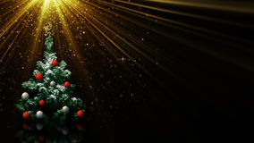 Albero di Natale nei raggi luminosi Immagine Stock Libera da Diritti