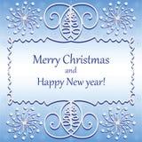 Albero di Natale nei turbinii illustrazione di stock