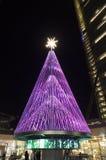 Albero di Natale nel citylife Huawei Milano fotografia stock