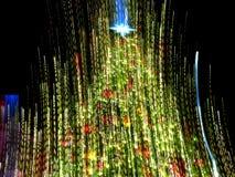Albero di Natale nel moto fotografia stock libera da diritti