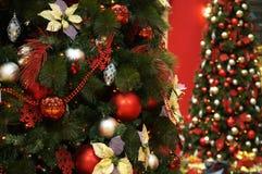 Albero di Natale nel salone Fotografia Stock Libera da Diritti
