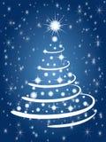 Albero di Natale nella notte Fotografia Stock Libera da Diritti