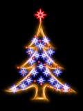 Albero di Natale nello stile scintillante astratto Fotografie Stock