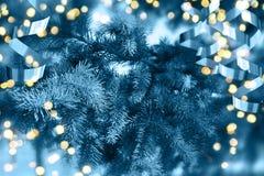 Albero di Natale Nuovo anno felice Fotografia Stock