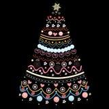 Albero di Natale ornamentale Fotografie Stock