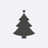 Albero di Natale Pittogramma piano moderno, concetto di Internet Fotografie Stock