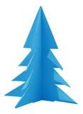 Albero di Natale reso di carta - blu-chiaro Fotografie Stock