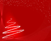 Albero di Natale rosso Immagine Stock